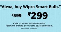 Say, ''Alexa Buy Wipro Smart Bulb