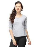 [Size XL] Campus Sutra Women Round Neck Quarter Sleeve T-Shirts