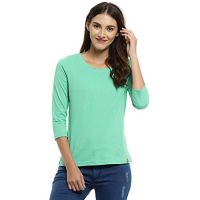 Campus Sutra Solid Women Round Neck T-Shirt Or Tops
