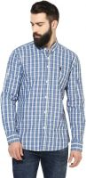 [Size S] Red TapeMen Regular Fit Checkered Button Down Collar Casual Shirt