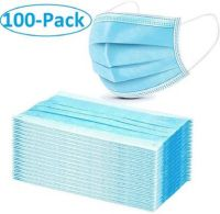 Lavella 100 3 PLY BLUE Surgical Mask  (Free Size, Pack of 100, 3 Ply)