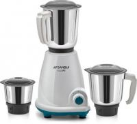 Sansui ProHome Allure 500 W Mixer Grinder  (White and Blue, 3 Jars)
