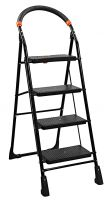 Parasnath Prime Black Milano Heavy Folding Ladder with Wide Steps Milano 4 Steps Ladder (25 Years Years Warranty Made in India)