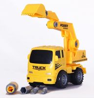 MWG Exports Co Build Your Own Pull Back Friction Car Construction Truck Vehicles