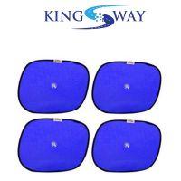 Kingsway Sticky Sun Shades For Car Window For Maruti Suzuki Old Baleno (Blue, Set of 4)