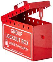 Aktion Safety Polypropylene Group Lockout Box Ak-Gls-115, 10 X 6 X 4 Inch, Pack Of 1, Red