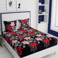 IWS 144 TC Microfiber Double Floral Bedsheet(Pack of 1, Multicolor)