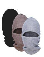 US Club Assn Men's Woollen Monkey Cap (Multicolour) - Pack of 3