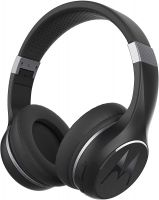 Motorola Escape 220 Over-The-Ear Bluetooth Wireless Headphones - HD Sound, Built-in Microphone, 24-Hour Play Time, Noise Isolation - Foldable & Compact - Black
