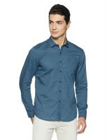[Size XXL] Lee Men's Solid Slim Fit Casual Shirt