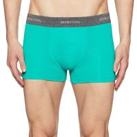 [Size S] United Colors of Benetton Men's Solid Boxers (C10DI-901_Green_S)