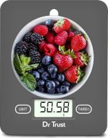 Dr. Trust (USA) Model 517 Electronic Digital LCD Kitchen Food Accurate Weight Machine For Measuring Fruits Spice Food Vegetable Water Milk Liquids Weighing Scale  (Grey)