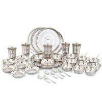 Pigeon Royal Stainless Steel Dinner Set - 42 Pieces, Silver