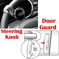 Riderscart I-Pop Car Steering Knob Door Guard with I-POP Car Door Guard with 3M Sticker For Nissan Go+