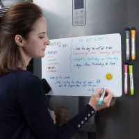 Royalkart Magnetic Fridgeboard Plain White Board Planner Sheet (43cm X 33cm) – Dry Erase. Includes 3 Markers & 1 Duster. Can Be Stuck On Refrigerator or Any Metal Surface