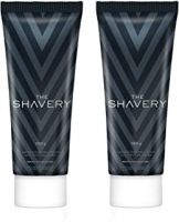 Amazon Brand - The Shavery Lather Shaving Cream (With Lime Oil, Shea Butter & Menthol Extract) - 100g (Pack of 2)