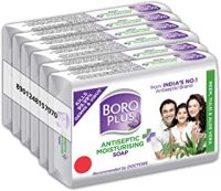 Boroplus Antiseptic + Moisturizing Soap - Neem, Tulsi & Aloe Vera (Pack of 6)