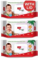 LuvLap Baby Moisturising Wipes with Aloe Vera,72 Wipes/pack, with lid(216 Wipes)