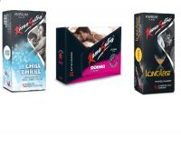 18+ Kama Sutra Chill Thrill 12s + Dotted 20s + LongLast12s Climax delay Condoms