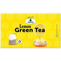 Apsara Lemon Green Tea Bags For Immunity Boosting And Weight Loss (25 Tea Bags)