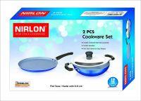 Nirlon Nonstick Aluminium Cookware Pots and Pans Utensil Set (2 Piece)
