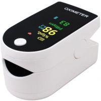 Sansui Digital Fingertip Pulse Oximeter with Visual Alarm (White-Black)
