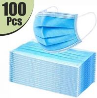 VeBNoR 3L100 Extra Thick Extra Protective Mask(Blue, Free Size, Pack of 100, 3 Ply)