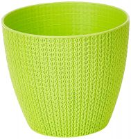 Gardens Need 100% Virgin Plastic Turkey Pot  Set of 5 Planter, (14cm x 12.5cm x 9cm, Lemon Green)