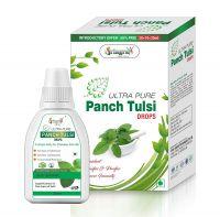 Vringra Tulsi Drops - Panch Tulsi Liquid - Tulsi Ark Drops - Tulsi Drops For Health - Tulsi Ras 30ml