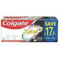 [Pantry] Colgate Total Whole Mouth Health, Antibacterial Toothpaste, 185g, (Charcoal Deep Clean, Saver Pack)