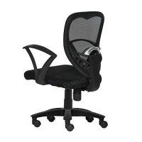 Da URBAN® Carex Medium Back Revolving Office Chair (Black) (1Pc)