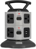 [Pre Book] ZEBRONICS Zeb-TS3120USB Power strip with 7 Universal Socket, 2 USB Ports and 2.8 m Long Cable 7  Socket Extension Boards(Black, Grey)