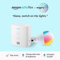 Echo Flex Combo with Wipro 9W Smart Bulb - Easy Set-Up