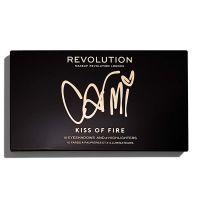 Makeup Revolution X Carmi Kiss of Fire Palette, Multicolor, 20.26g