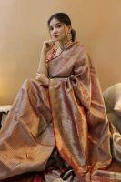 TorioxPrinted, Self Design Fashion Art Silk, Silk Blend Saree(Red)