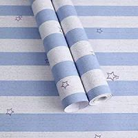 WOW Interiors Golden Floral(200*45CM L*W - 9SQFT Approx.)PVC SELF Adhesive Wallpaper Peel and Stick Easy to Stick and Kitchen Bedroom LIVINGROOM CABINE, Multicolor (SW-F2101) (Blue Strips)