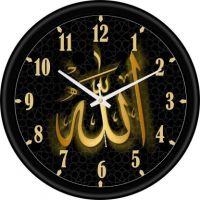 Flipkart SmartBuy Analog 25 cm X 25 cm Wall Clock(Black, With Glass)