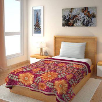 IWS Printed Single Blanket Multicolor(1 Single Bed Fleece Blanket)