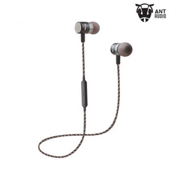 Ant Audio H21 In-Ear Bluetooth Earbud Earphones with Mic (Black)