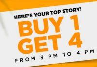 [TIll 4PM] Buy 1 Get 4 on Jabong