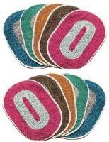 Kihome Cotton Door Mat CottonMatSet10- 5645820(Red, Brown, Orange, Green, Blue, Medium)